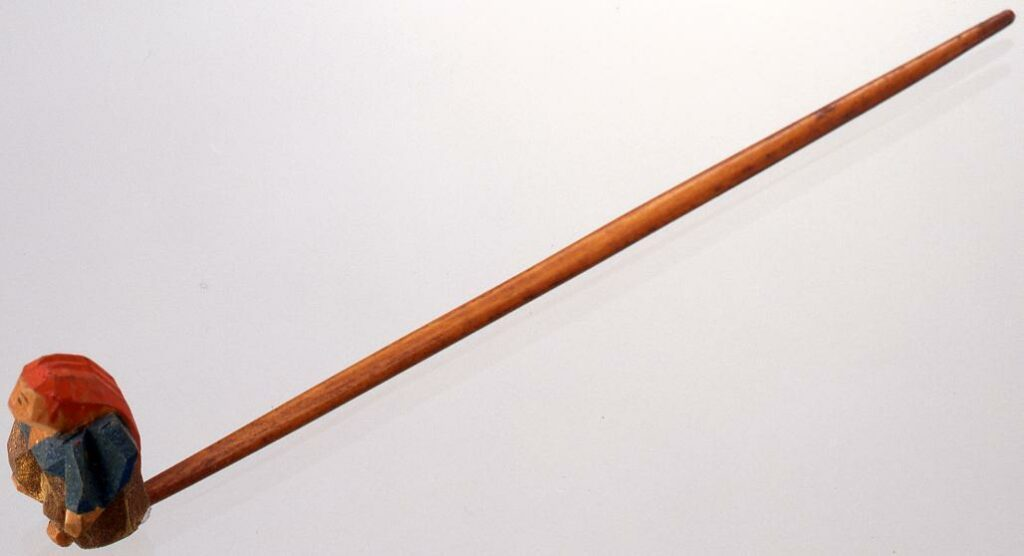 作品画像:奈良彫猩猩飾簪
