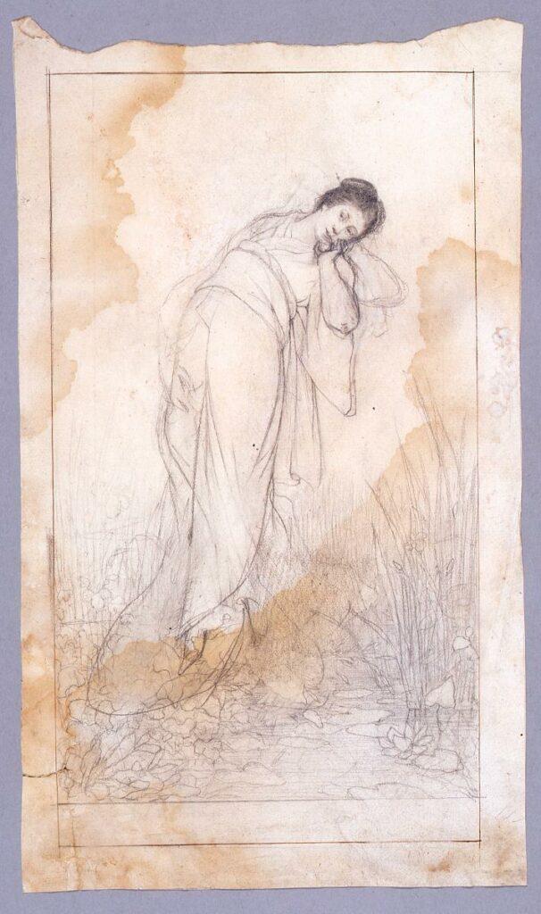 作品画像:素描  水辺の女