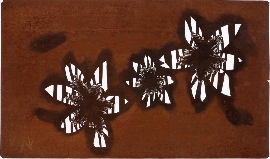 作品画像:長板中形型紙 桜(大判 追掛)