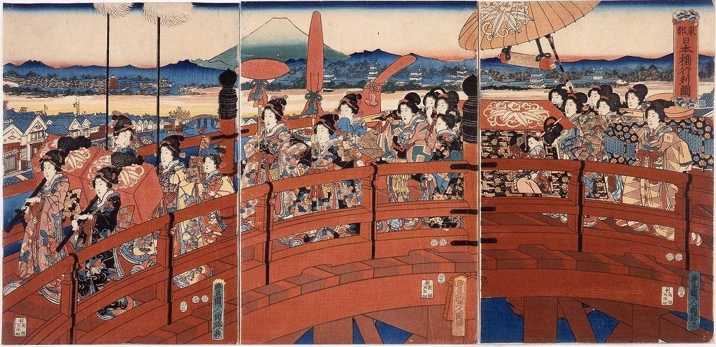 作品画像:東都日本橋行列図