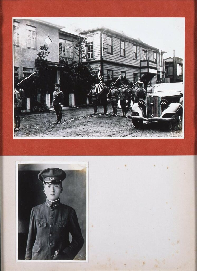 作品画像:龍土軒前の隊列と高橋中尉