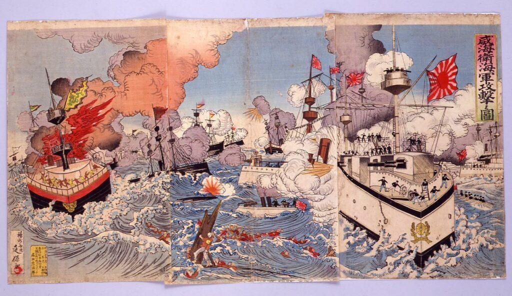 作品画像:威海衛海軍攻撃の図
