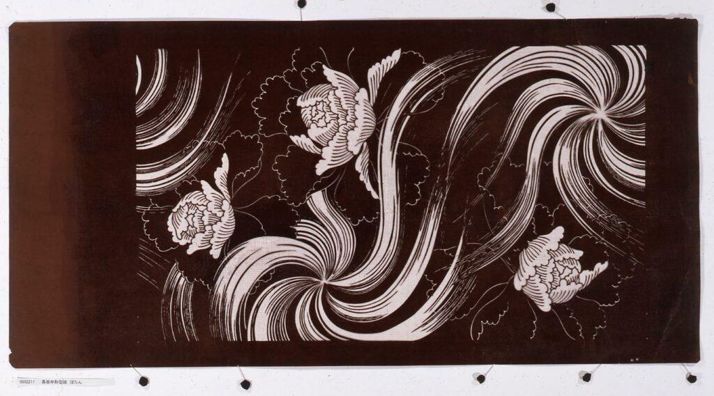 作品画像:長板中形型紙 ぼたん