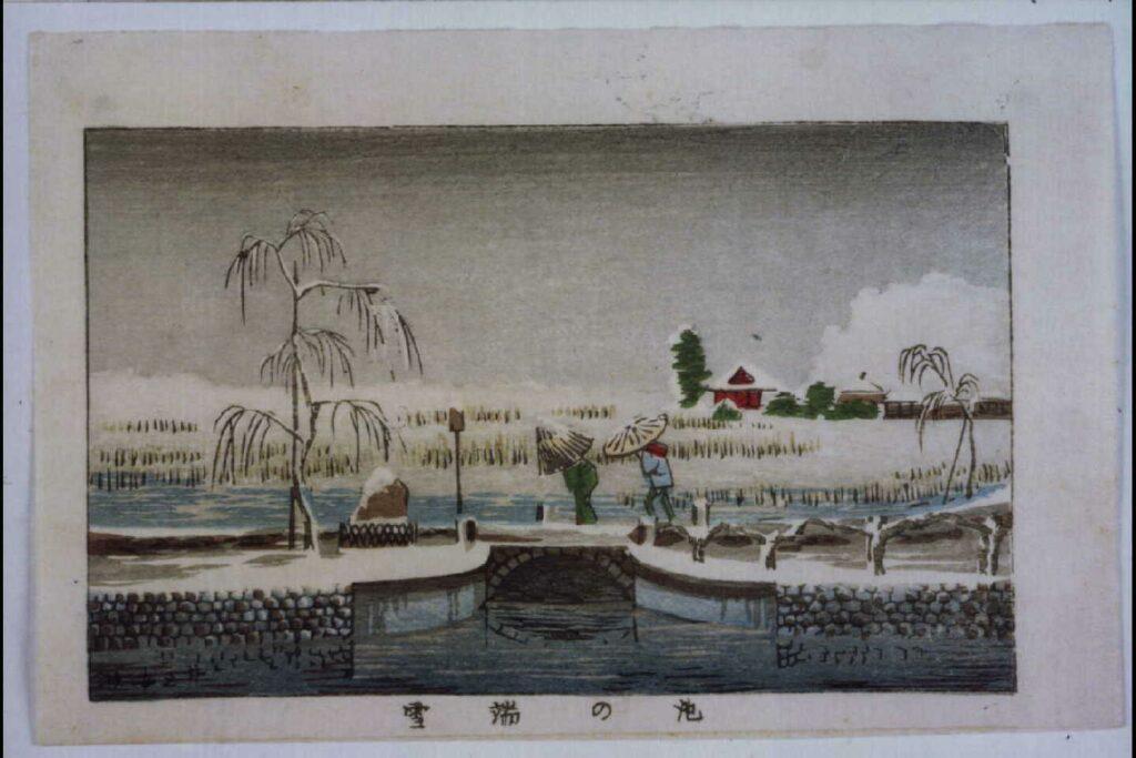 作品画像:東京真画名所図解 池の端雪