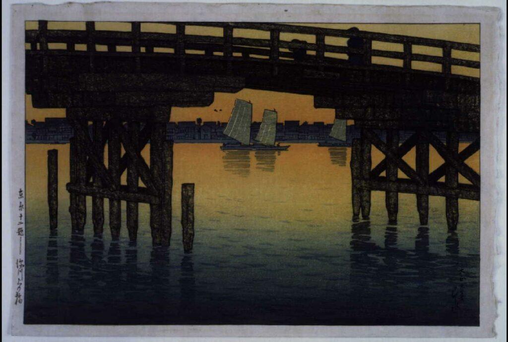 作品画像:東京十二題 深川上の橋