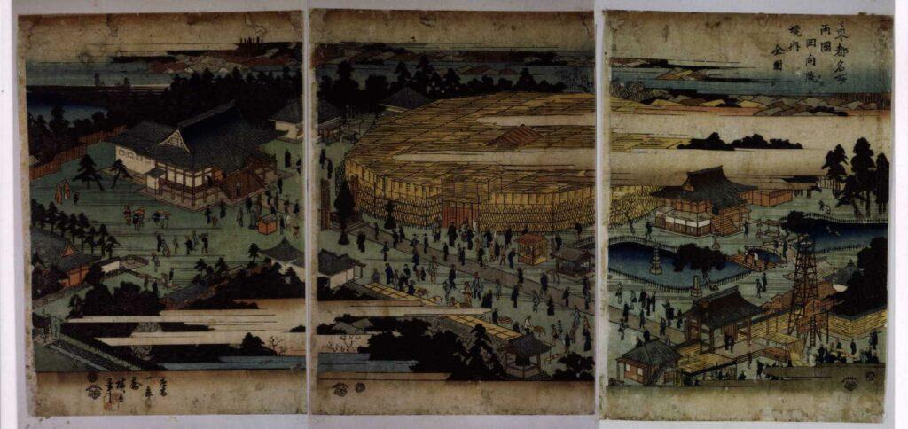 作品画像:東都名所 両国回向院境内全図