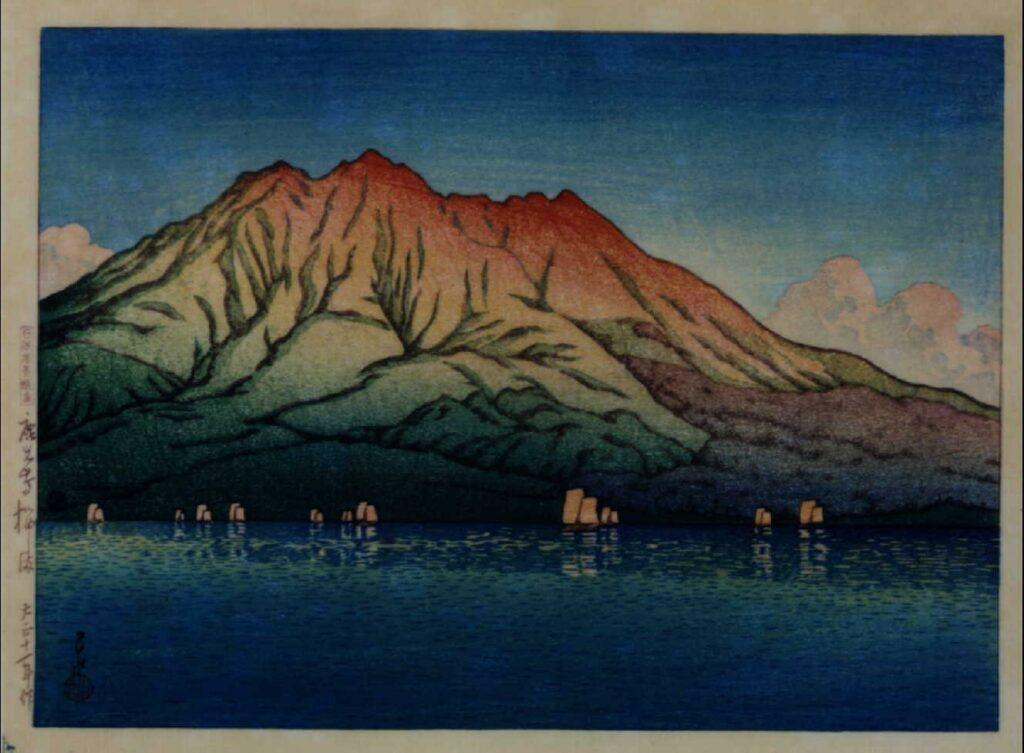 作品画像:日本風景選集 一 鹿児島桜しま