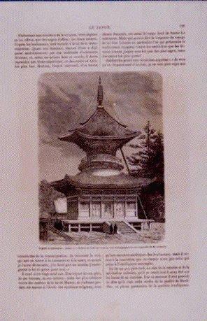 作品画像:アンベール「幕末日本図絵」挿絵 八幡宮の塔,高僧