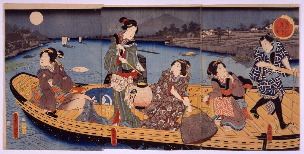 作品画像:隅田川夜渉シ之図
