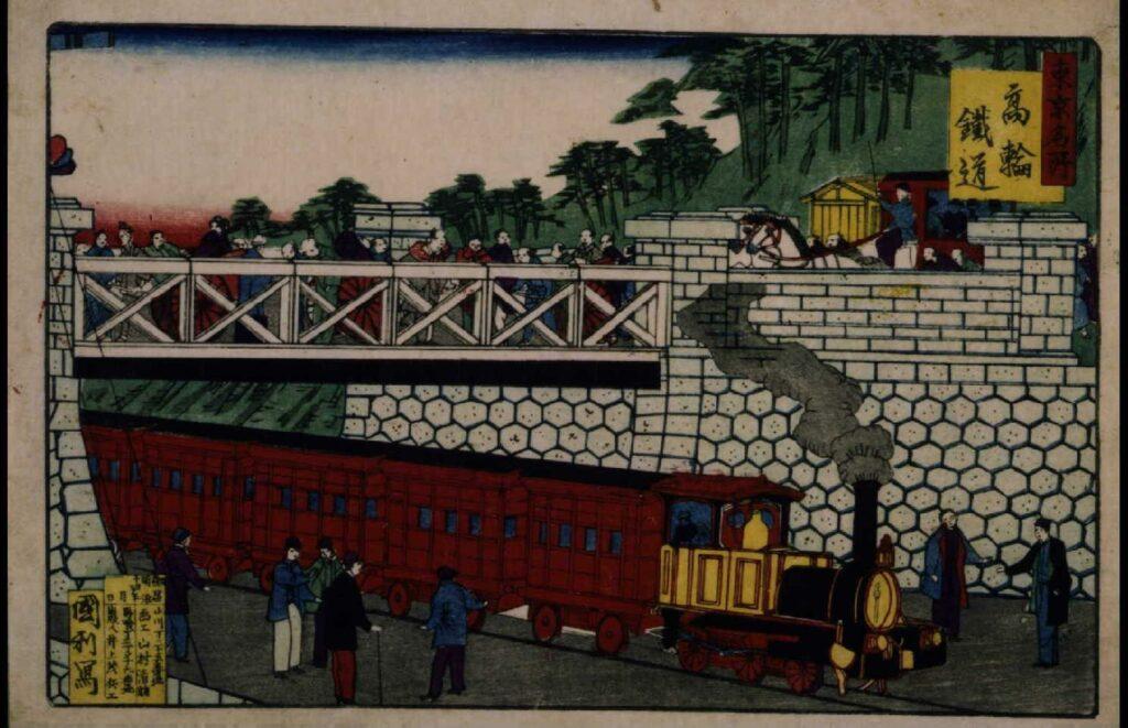 作品画像:東京名所 高輪鉄道