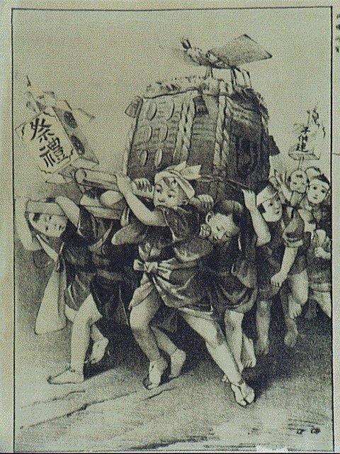 作品画像:祭礼子供の遊び