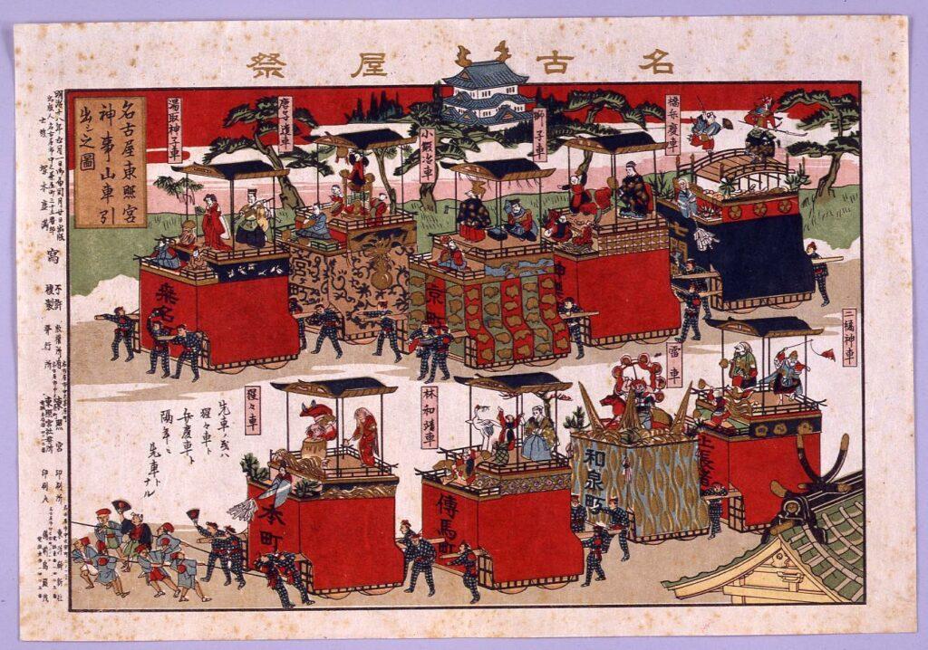 作品画像:名古屋祭・名古屋東照宮神事山車引出シ之図