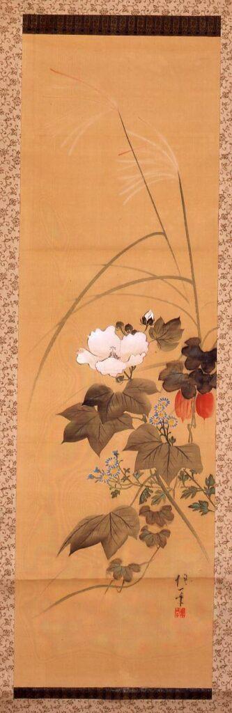 作品画像:秋花図