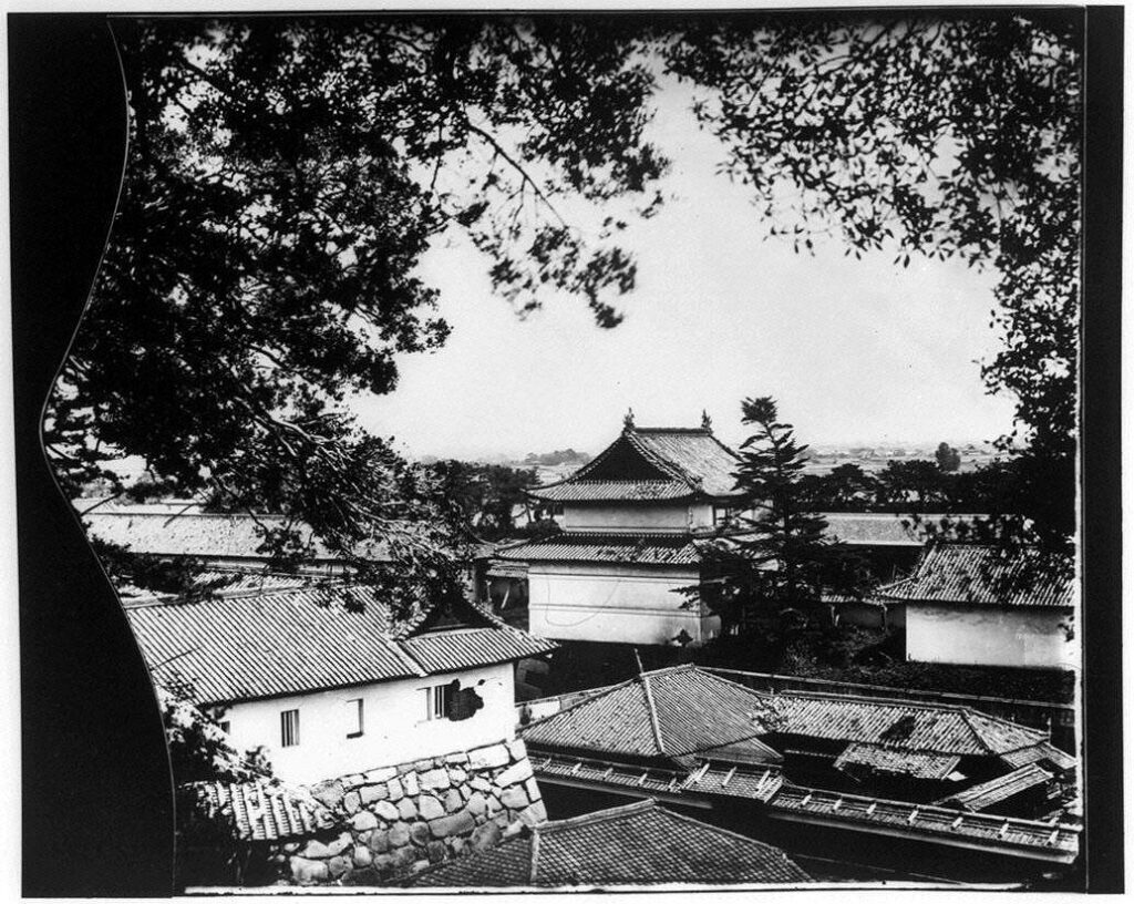 作品画像:旧江戸城写真ガラス原板 寺沢二重櫓