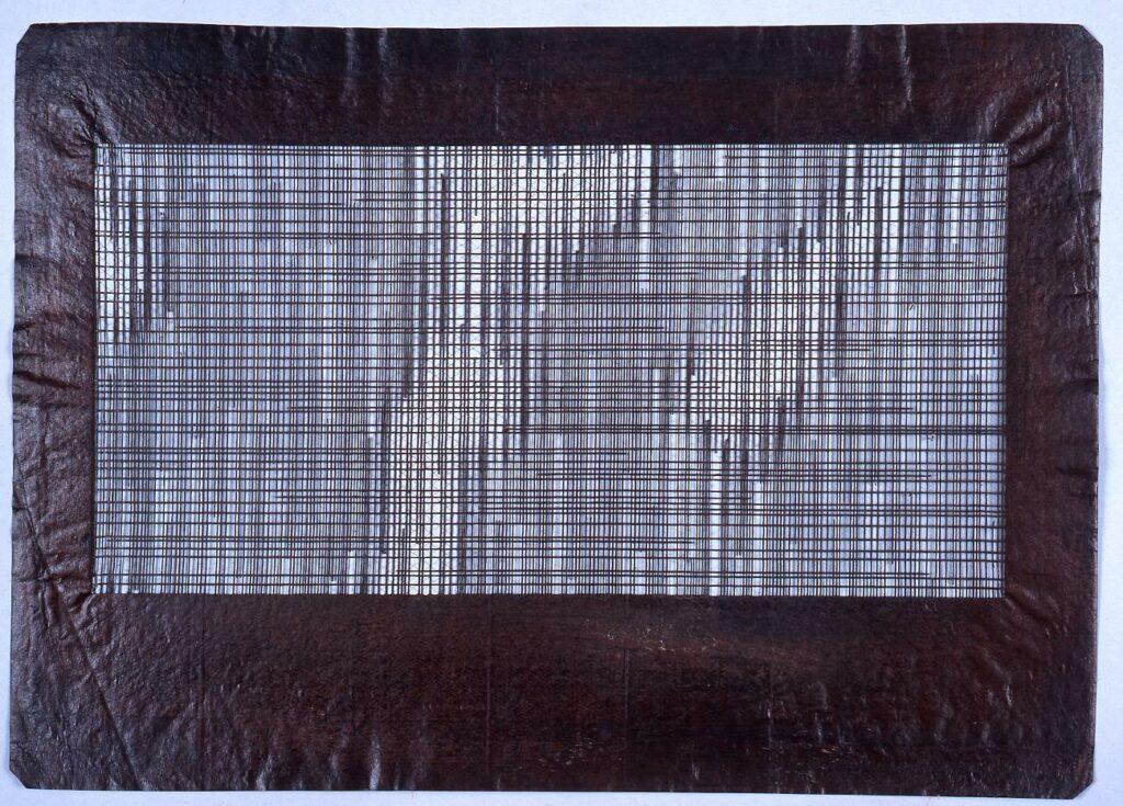 作品画像:長板中形型紙 変り格子