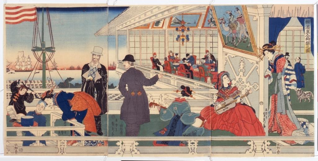 作品画像:横浜異人商館之図