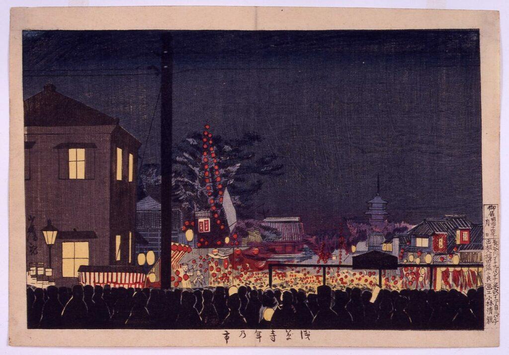 作品画像:浅草寺年の市