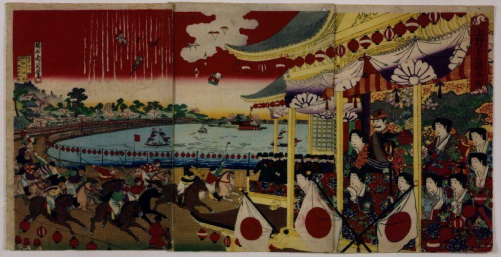 作品画像:上野不忍競馬ノ図