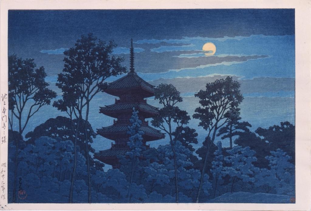 作品画像:池上本門寺の塔