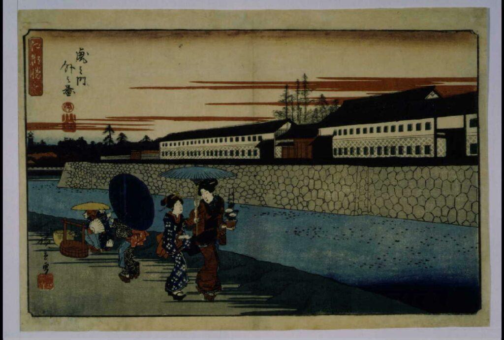 作品画像:江都勝景 虎之門外之図