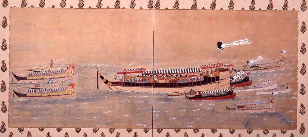 作品画像:熊本藩細川家御座船波奈之丸の図