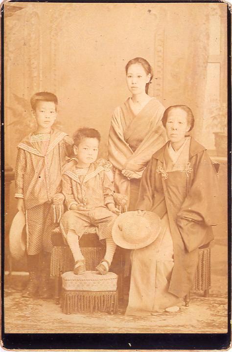作品画像:永井荷風家族写真(荷風少年時)