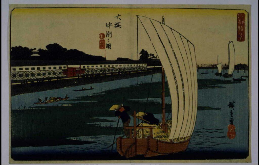 作品画像:江都勝景 大橋中洲之図