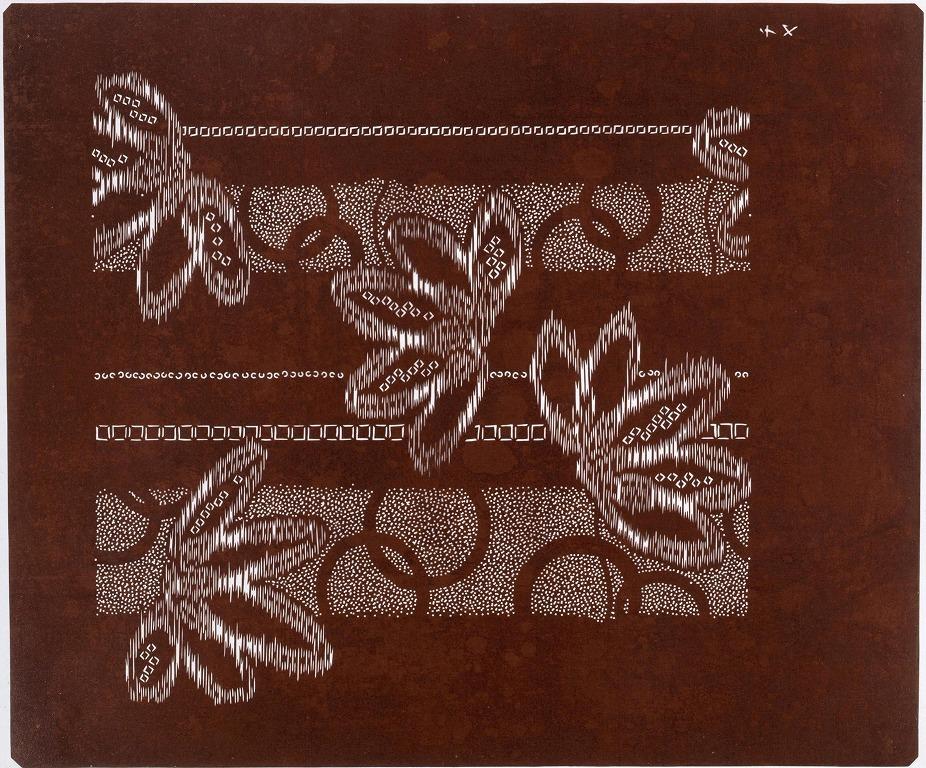 作品画像:長板中形型紙 鹿の子 竹(大判 追掛)